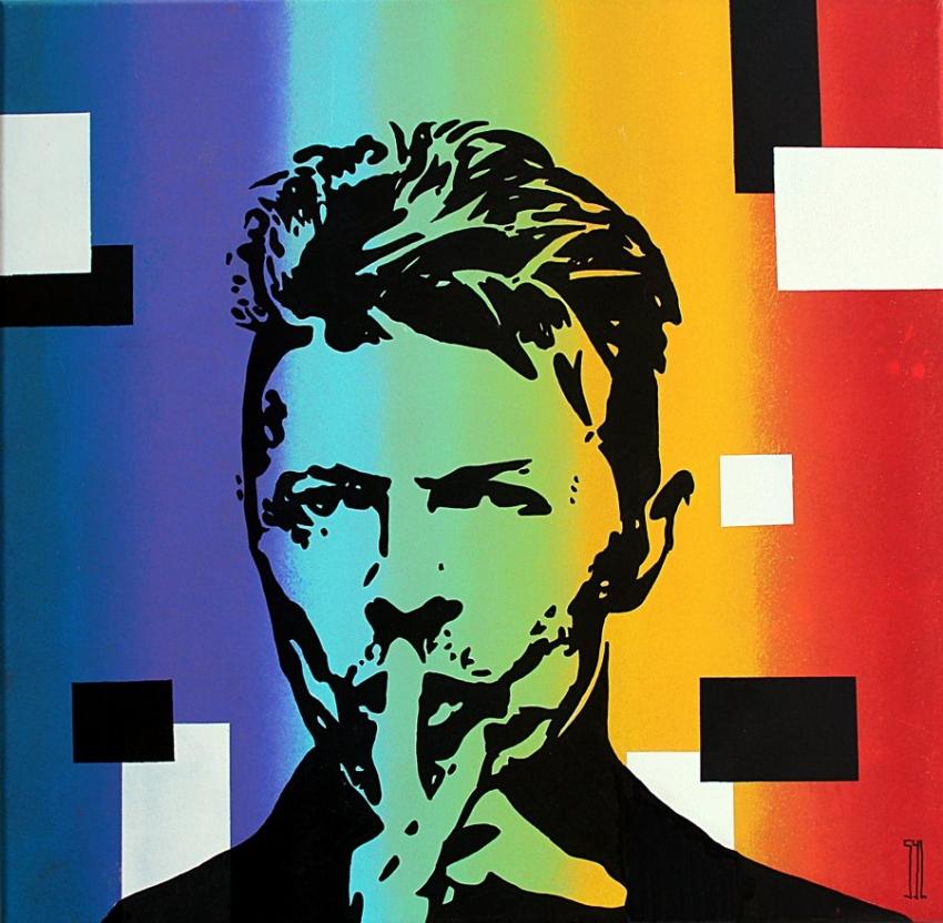 David Bowie by aquarelle-autrement